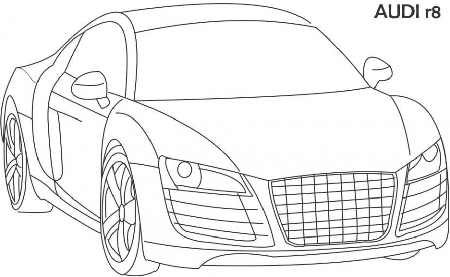 audi r8 coloring pages - super car audi r8 boyama resimleri ve foto raflar